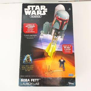 STAR WARS Science Toy BOBA FETT Launchpad Rare EUC